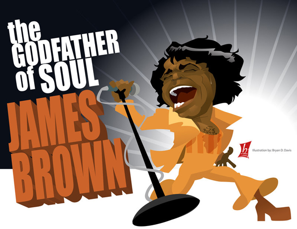Image result for caricature of james brown
