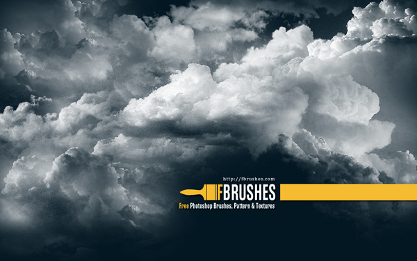 free vector set of grunge brushes and set of cloud brushes