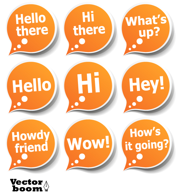 free vector greeting label