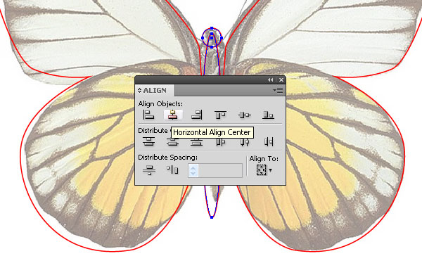 vector paper butterfly and text effect