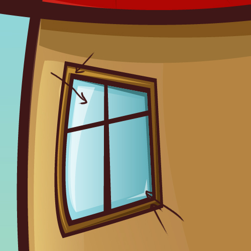 How to create a cartoon house in illustrator illustrator for Window design cartoon
