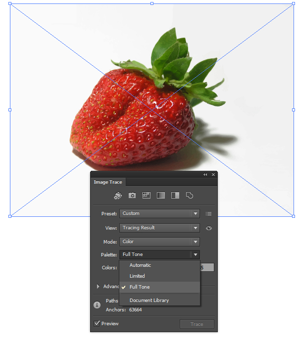 preset High Fidelity Photo in  Adobe Illustrator CS6