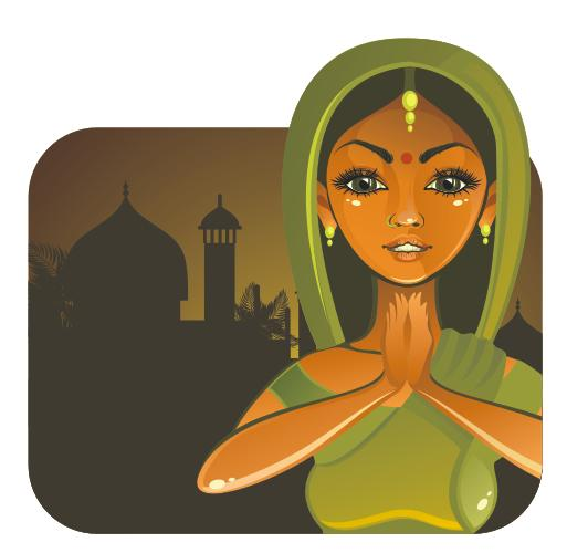 Drawing an Indian Girl in Vector Step by Step in CorelDraw