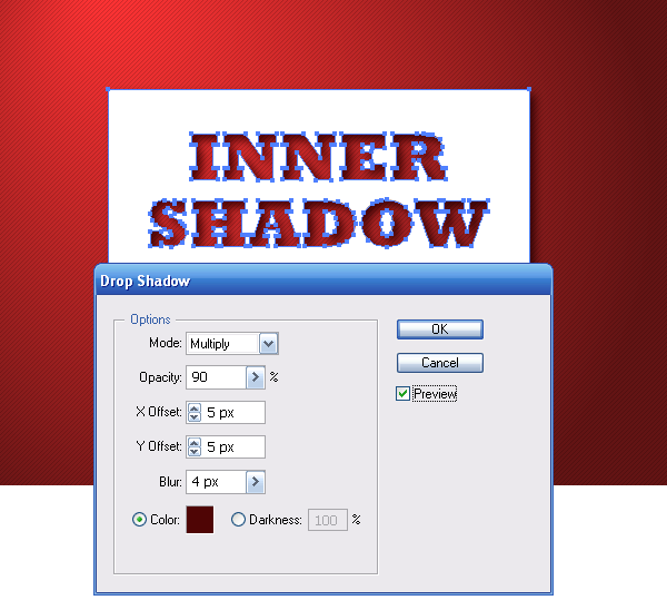 how to make a shape shadow in illustrator