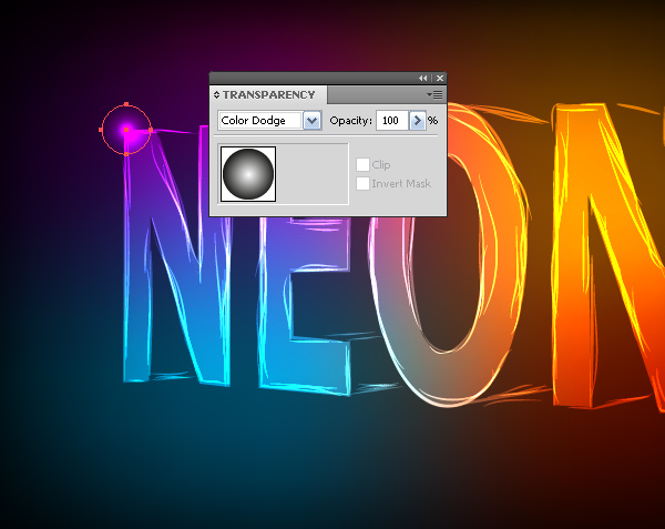 how to create neon text in illustrator cs5