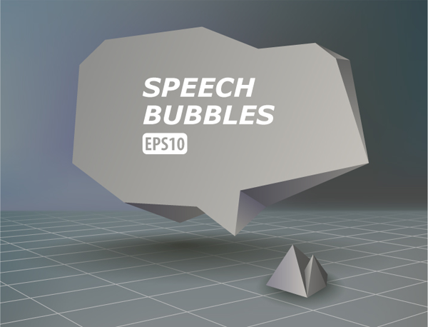 abstract vector speech bubbles