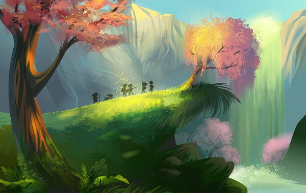 Create a magical vector landscape in adobe illustrator for Creating a landscape