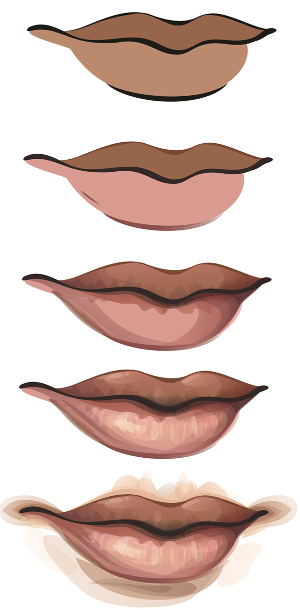 How To Draw Lips In Illustrator
