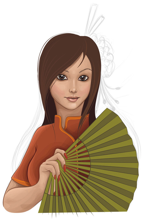 How to Create a Vector Girl using Adobe Illustrator or CorelDraw