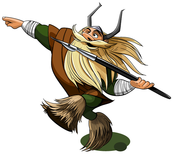 vector viking cartoon character drawing