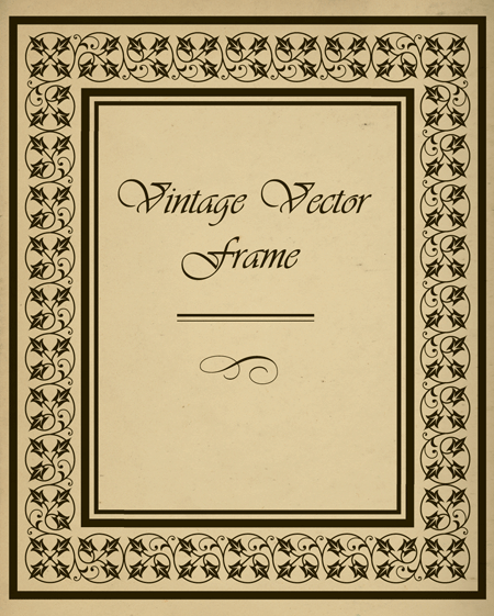 How to Create a Vintage Frame Using the Pattern Brush and Illustrator