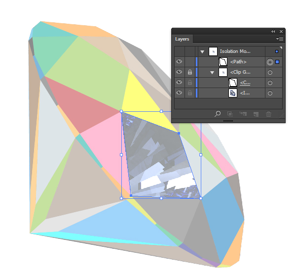 how to make a 3d diamond in illustrator
