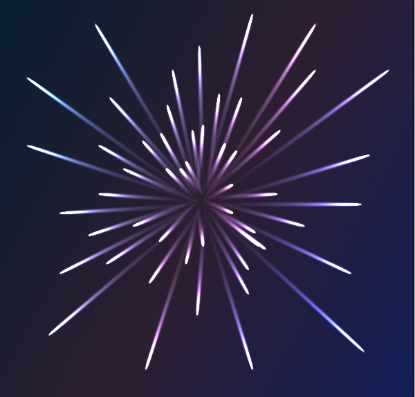 how to draw realistic fireworks on paper