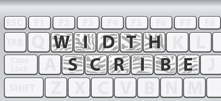 Shortcuts for WidthScribe
