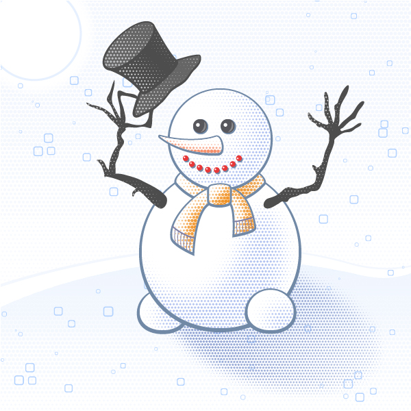 greeting card, snowman