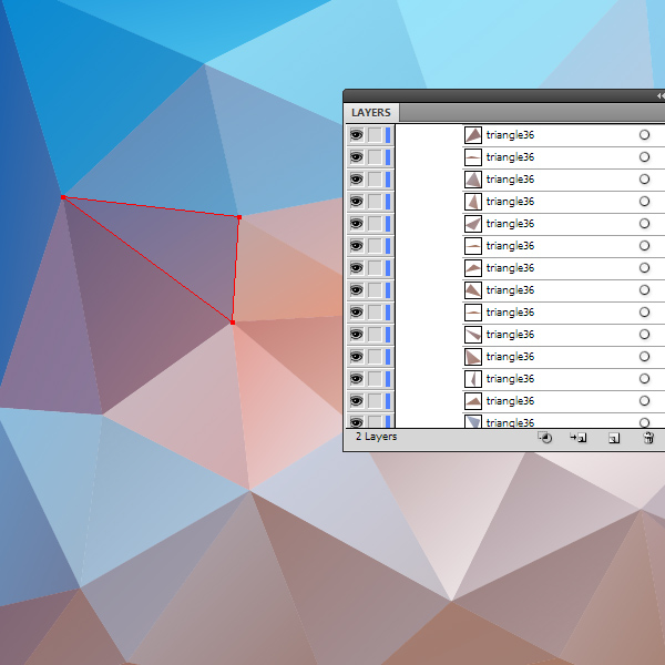 How to Create Vector Polygonal Background Quickly Using