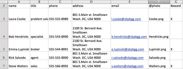 Creating Dynamic Company Business Cards Using a  CSV file with