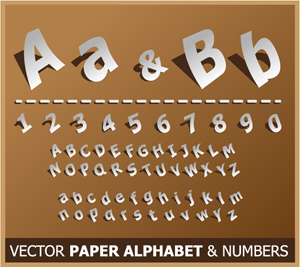 Free Vector Paper Alphabet & Numbers