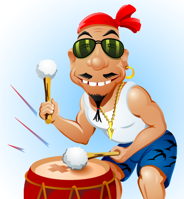 How to Create a Happy Drummer in Adobe Illustrator