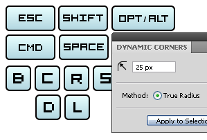 Shortcuts for VectorScribe (Dynamic Corners)