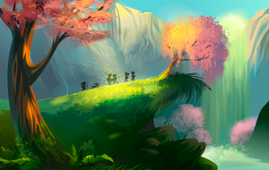 Create a Magical Vector Landscape in Adobe Illustrator