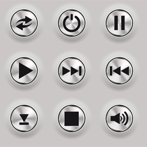 Free Vector pack: Metal Buttons for Web Interfaces