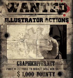 Envato's Most Wanted – $1,000 Reward for the First 40 Illustrator Actions