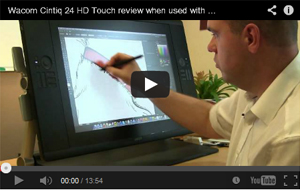 Wacom Cintiq 24 HD Touch review when used with Adobe Illustrator