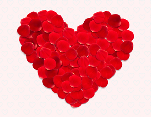 How to Create a Greeting Card for Valentine's Day from Rose Petals in Illustrator