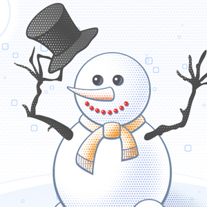 How to Create a Holiday Card with a Snowman in Illustrator