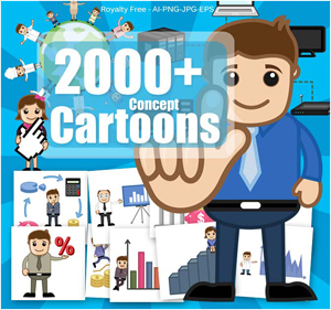 Deal of the Week: 2000+ Royalty Free Cartoon Vectors – only $27!