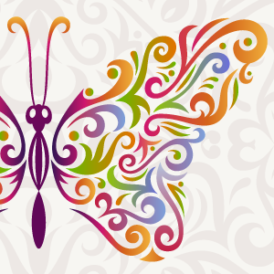 How to create a stylised butterfly and recycle your existing artwork using Illustrator and MirrorMe