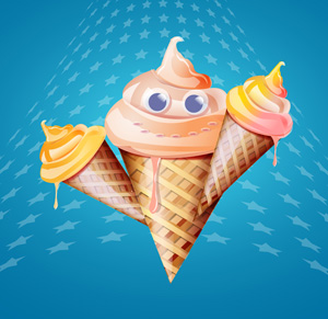 Free vector  - ice cream cone