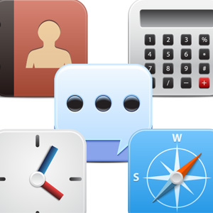 5 free vector icons for iOS App