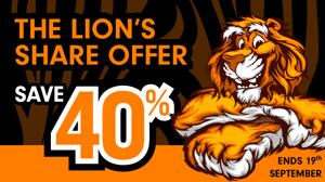 Be King of the Studio with our Lion's Share Offer