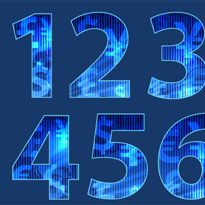 How to create numbers with random texture using Illustrator