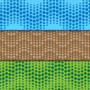 Create wavy dotted seamless pattern