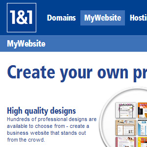 Possibilities and restrictions to customize a 1&1 website design