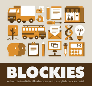 Blockies: 140 Super Stylish Retro Illustrations - only $10!
