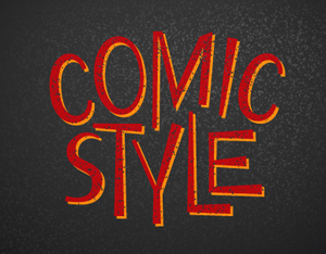 How to Create Comic Cartoon Text with Distressed Effect using WidthScribe & Stipplism
