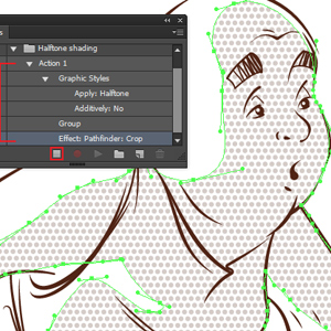 Create Halftone shading with Phantasm Actions