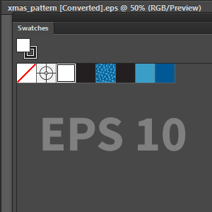Save the Seamless Pattern in the Swatches Panel in EPS10 format