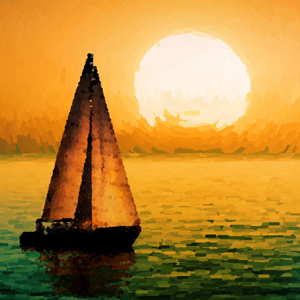 How to Create a Sea Sunset Painting in Pointillism Style with Stipplism in Illustrator