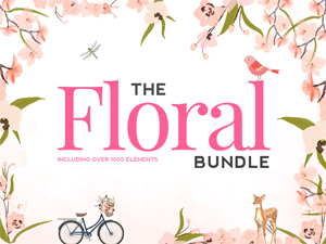 Floral Super Bundle - over 1900 illustrations and graphics from The Hungry JPEG