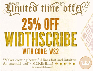 25% OFF WidthScribe v2 for a limited time only!