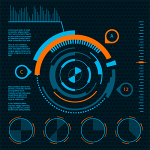 Create dynamic futuristic user HUD interface with VectorScribe in Adobe Illustrator