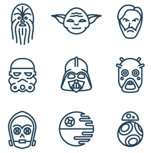 How to Create Star Wars Icons in Line Art Style
