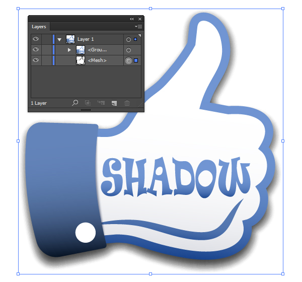 How to Create 100% Vector Shadow in Adobe Illustrator