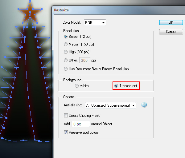How to create blurred Christmas background in Adobe Illustrator