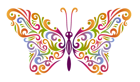 How to create a stylised butterfly and recycle your existing artwork ...